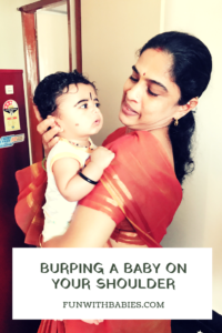 Burping a baby - on your shoulder position