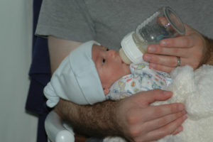 Bottle feeding - Involve the dad in the bottle feeding it will increase the bond between them and give you some rest