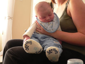 Bottle feeding - It is very important to burp your baby after every feeding
