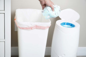 nappy change - diaper pail to dispose soiled nappies or diapers