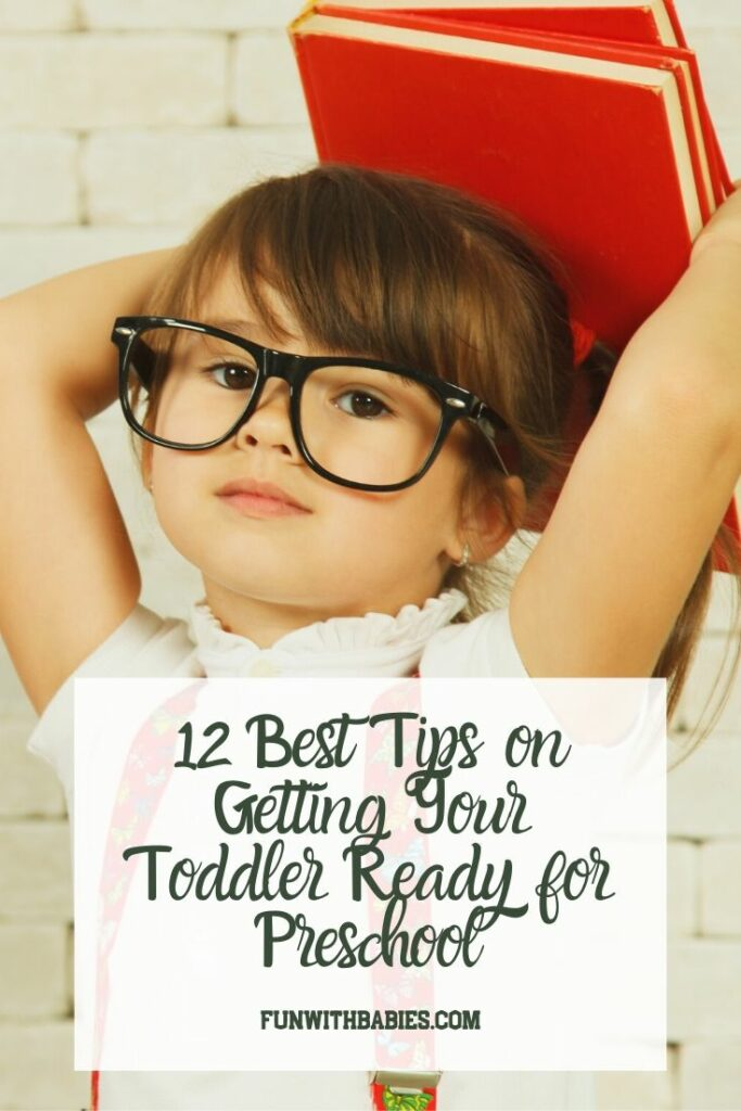 12 Best Tips on Getting your toddler ready for preschool Pinterest Image