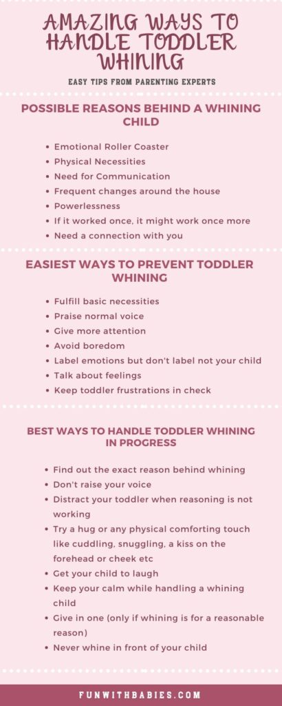 How to handle a whining child info graphic post image