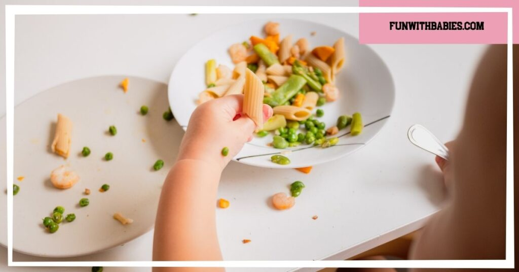 Offer healthy options is a great way to build healthy and independent self feeding in infants