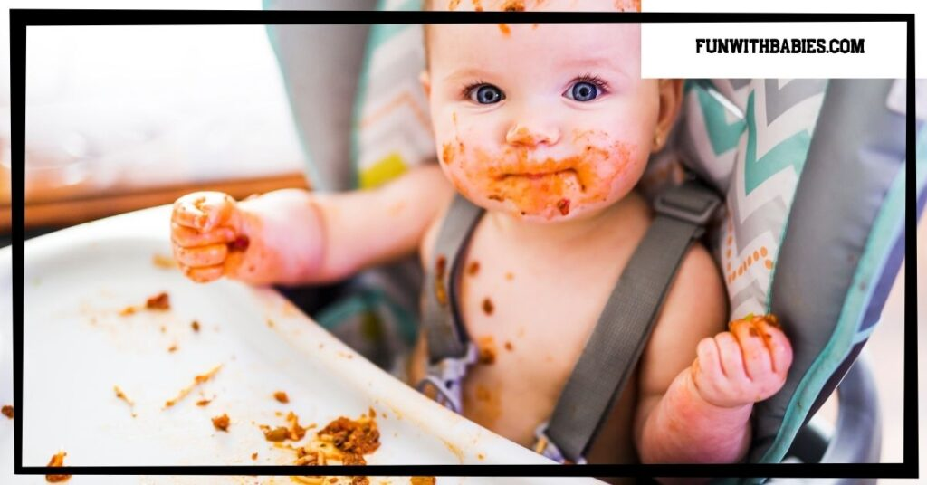 Independent eating in babies tends to be messy